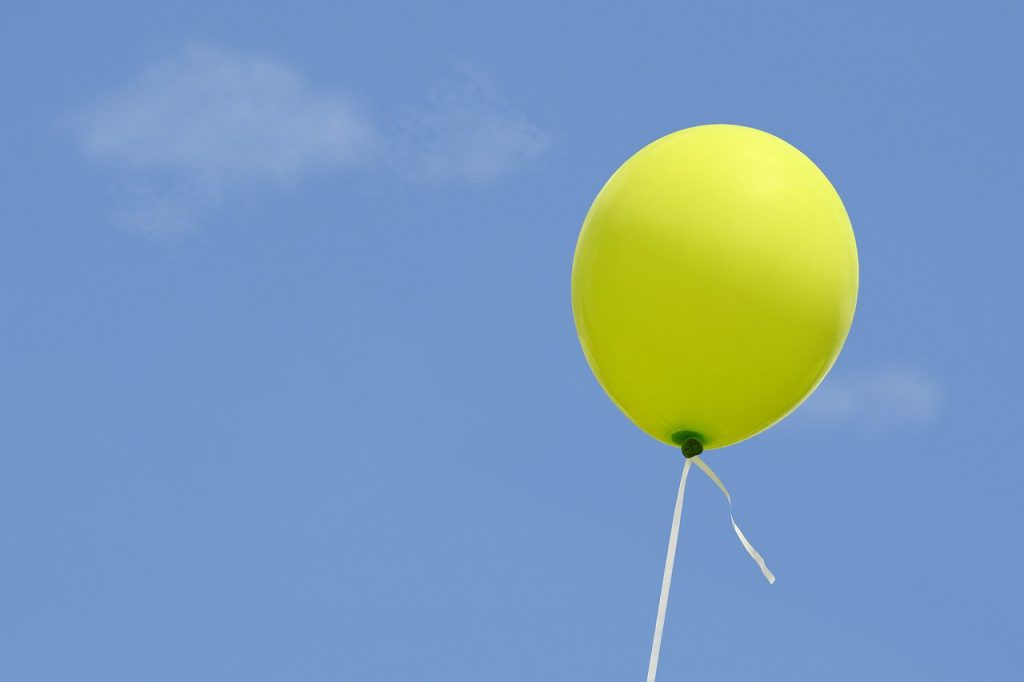 balloon, sky, blue