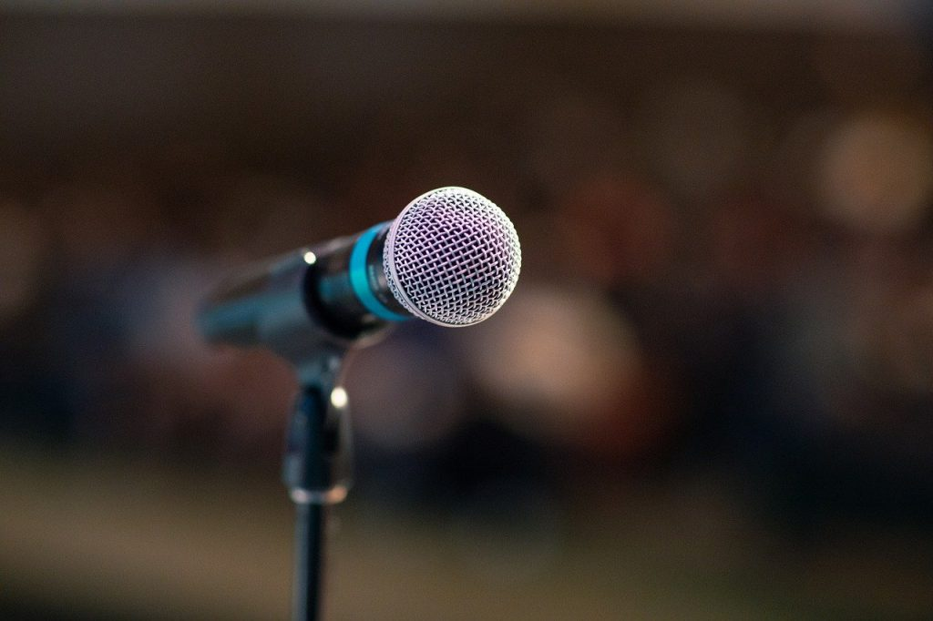 public speaking, mic, microphone